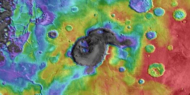 Supervulkane auf dem Mars gefunden