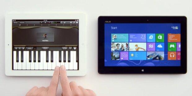 Microsoft wirbt mit Siri gegen Apples iPad