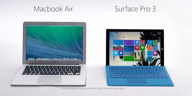 Microsoft zieht über das MacBook her