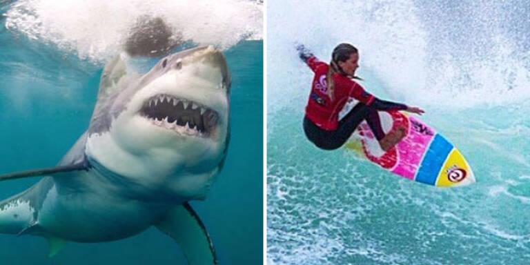 Surferin (13) überlebt Hai-Attacke