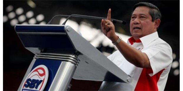 Präsident Yudhoyono wiedergewählt