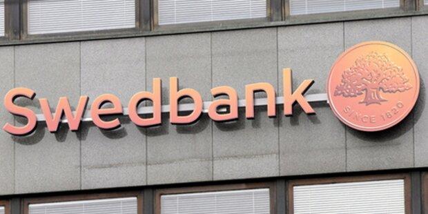 Lettische Bankkunde in Panik