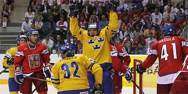 Schweden vs. Tschechien bei der Eishockey-WM