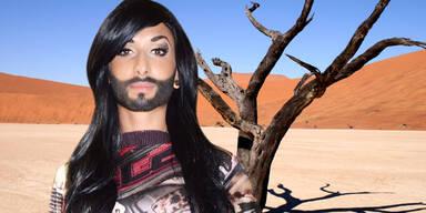 Conchita Wurst im Wüstencamp