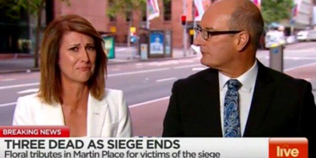 Sydney-Drama: Moderatorin bricht in Tränen aus
