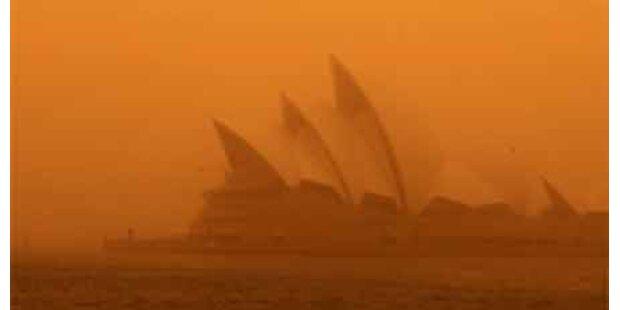 Sydney erneut in roten Staub gehüllt