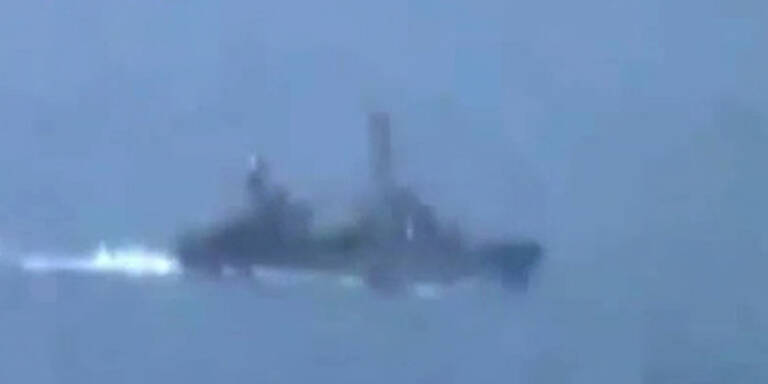 Kriegsschiffe beschießen Latakia