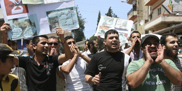 Wieder Massenproteste gegen Assad