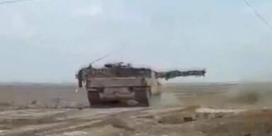 Erdogan schießt mit deutschen Panzern auf Kurden