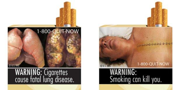 US-Tabakriesen klagen gegen Schock-Fotos