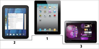 HPs TouchPad auf Platz zwei nach iPad