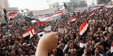 Demonstrationen am Tahrir Platz in Kairo