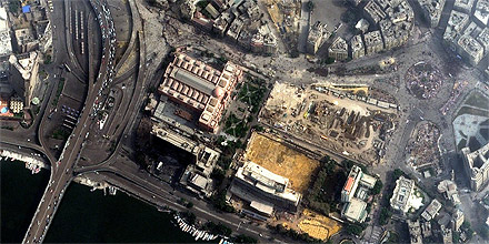 Tahrir Platz in Kairo (Satellitenaufnahme)