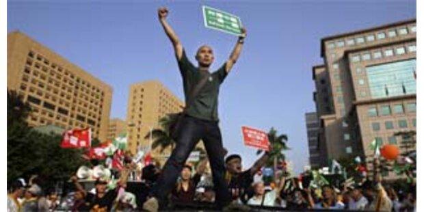 Proteste bei taiwanesisch-chinesischem Treffen