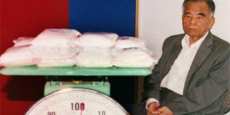 Der 90-jährige Huang Fang Hou wurde wegen Drogenschummels verurteilt (c) AFP