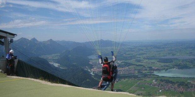 Unfall mit Tandem-Gleitschirm in Kärnten