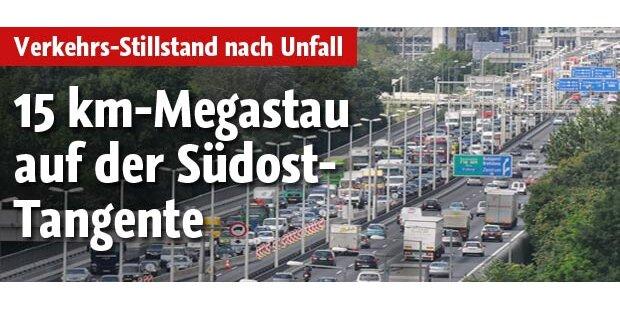 Verkehrs-Stillstand auf Wiener Tangente