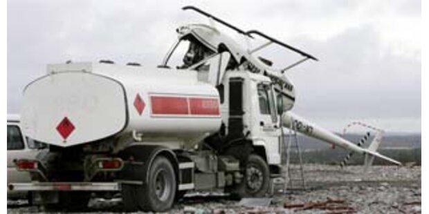 Hubschrauber stürzte in Norwegen auf Tanklaster