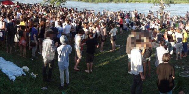 Großparty in Wien nach Facebook-Aufruf
