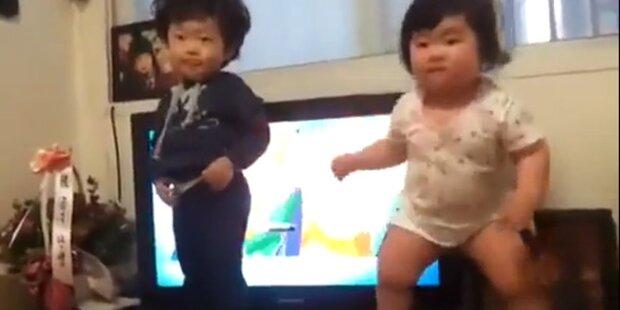 Boogie-tanzende Babys sind Internet-Hit