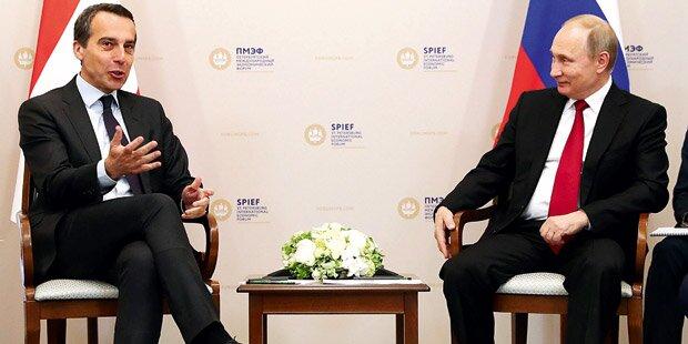 Kanzler-Debüt bei Putin