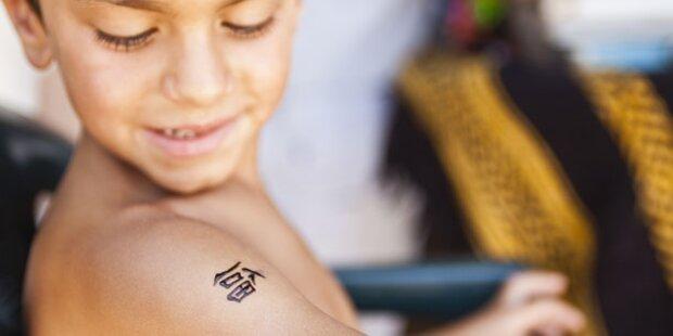 So gefährlich sind Kinder-Tattoos