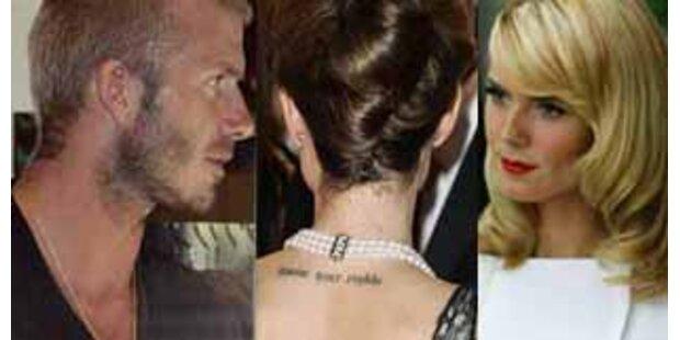 Beckhams, Jolie, Anderson - Die Tattoos der Stars