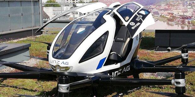 Erste Tests für Taxi-Drohnen 2020 in Linz