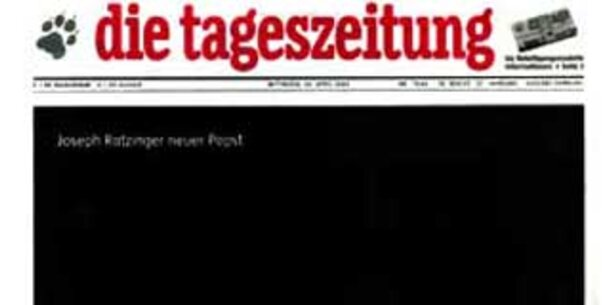 """""""taz"""" muss wegen CSU-Minus blechen"""