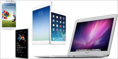 Die beliebtesten Tablets, Smartphones & Laptops