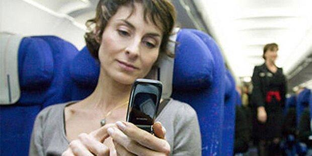 Handy im Flugzeug wird erlaubt