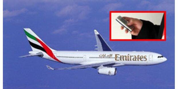 Handy-Telefonieren im Flugzeug erstmals erlaubt