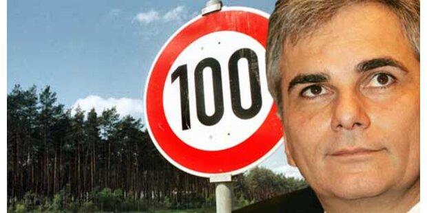 Tempo 100 in OÖ und Tirol