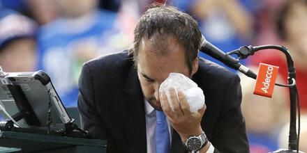 Horror-Verletzung für Tennis-Referee