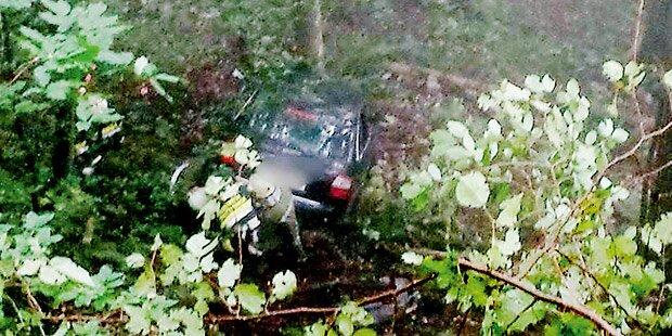 Lenker überlebt 40-Meter-Sturz über Felswand