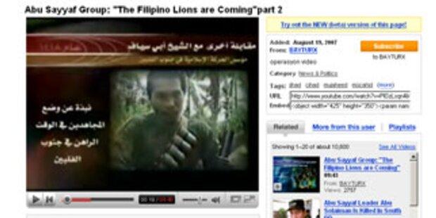 Terroristen suchen Spenden via YouTube