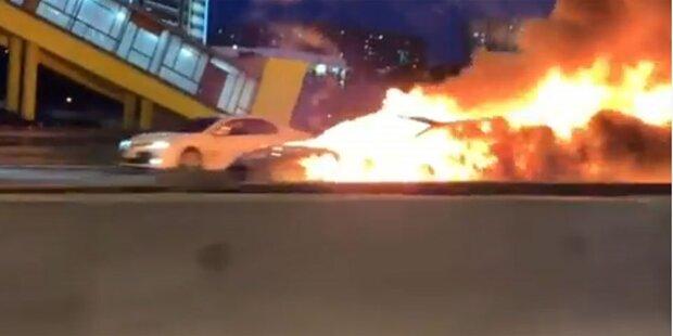 Video: Tesla Model 3 explodierte nach Crash