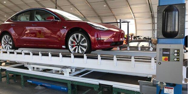 Model 3: Tesla schaffte Produktionsziel
