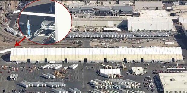 Tesla baut Model 3 jetzt in einem Zelt