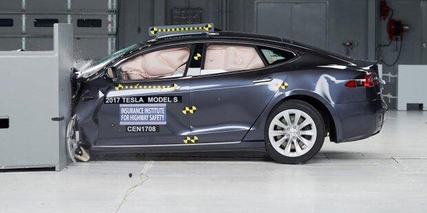 Tesla Model S patzte erneut bei Crashtest