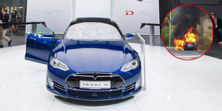 Tesla Model S geht in Flammen auf