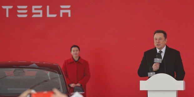 Tesla legte Grundstein für Werk in Shanghai