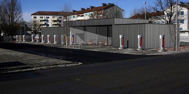 Das ist Europas größter Tesla-Ladeplatz