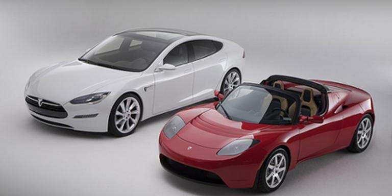 Der Tesla Roadster sicherte sich den Award in der Kategorie Elektrofahrzeuge. Bild: Tesla