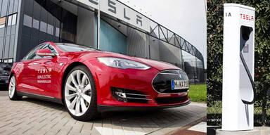 Tesla stellt Ladestationen in Europa auf