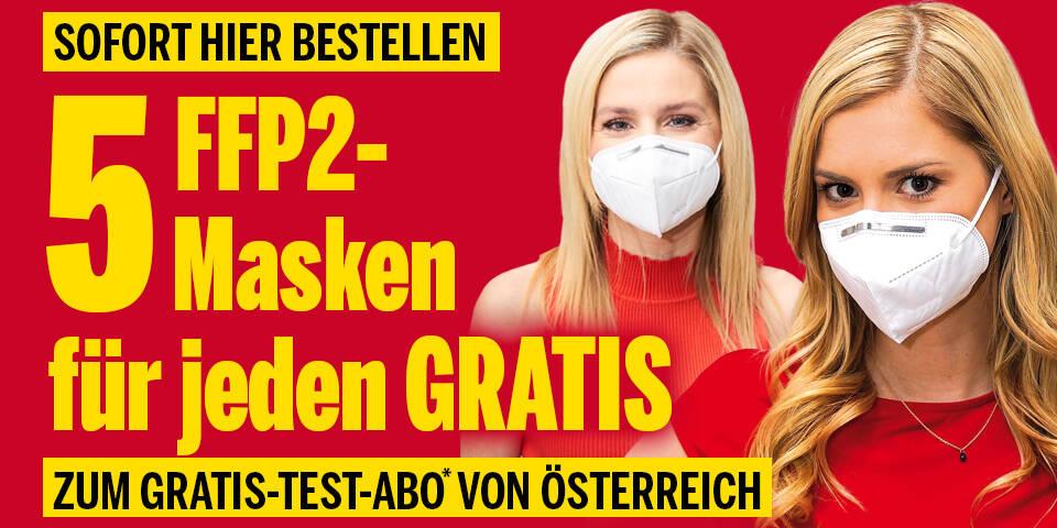5 FFP - 2- Masken für jeden GRATIS zum ÖSTERREICH-Testabo