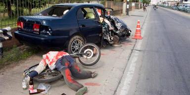 Gestellte Unfälle sollen Autofahrer abschrecken