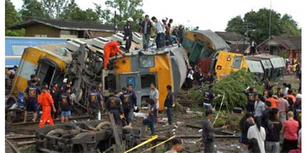Acht Tote bei Zugsunglück in Thailand