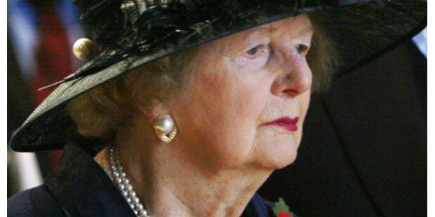 Margaret Thatcher im Krankenhaus