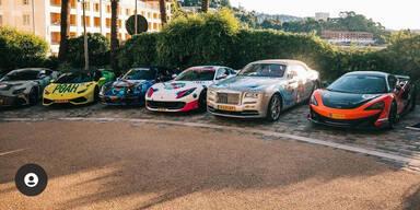 Luxusauto-Rallye machte Halt in Wien